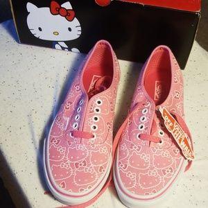 Vans x HelloKitty NWT pink sneakers size 8
